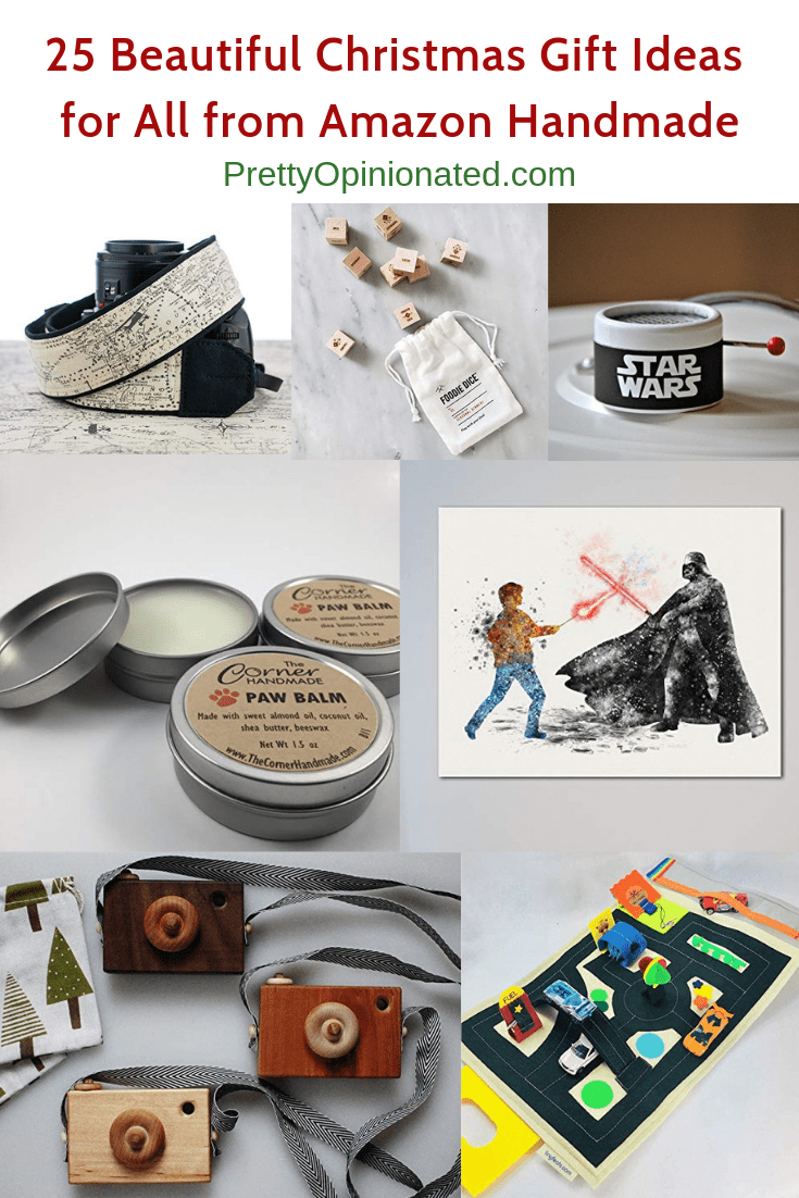 Give meaningful handmade gifts and help support small businesses with these 25 fantastic ideas for everyone from mom and dad to kids and pets! Check them out!