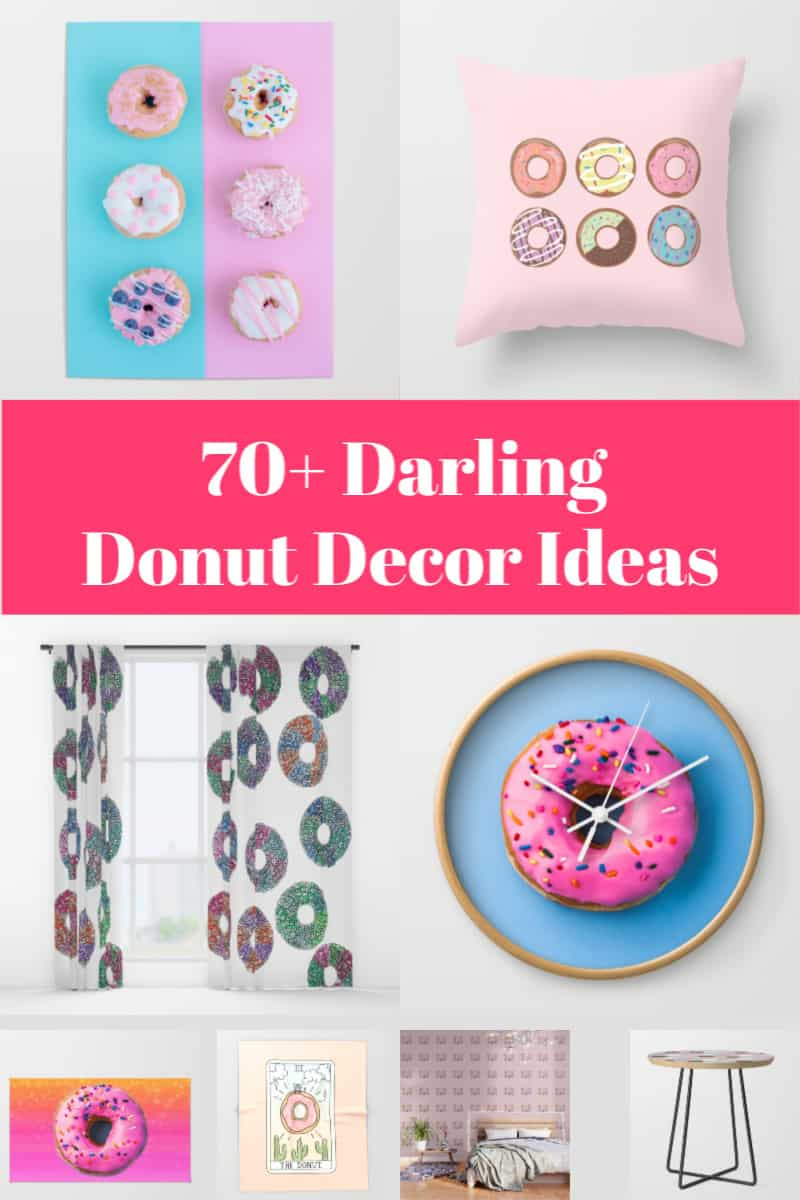 If you're looking for some fun ways to incorporate the donut decor trend into your home, check out these 70+ cute ideas!