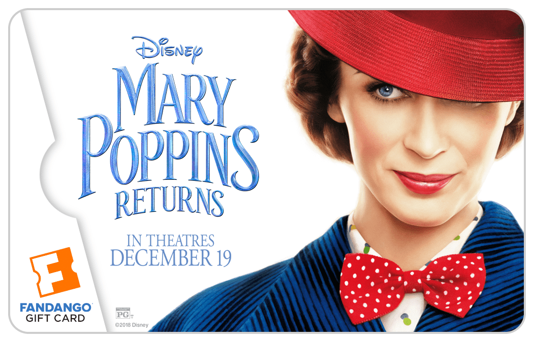 Enter for a chance to win a $25 Mary Poppins Returns Fandango gift card! Open to US residents, ends on 12/21/18. Good luck!
