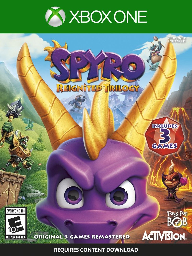SPYRO XB1 STD CS US Packshot FLAT Spyro Reignited Trilogy is Our Pick for Game of the Year!