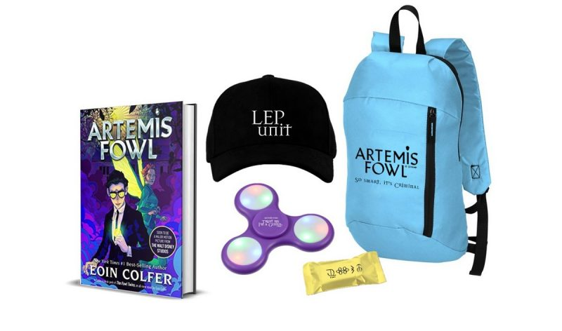 Artemis Fowl - the complete series (8 books!) Plus limited edition merchandise: backpack, hat, fidget spinner and chocolate.