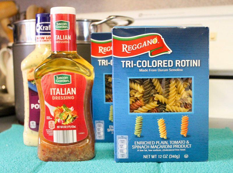 Italian Poppy Seed Pasta Salad Recipe 3 ingredients