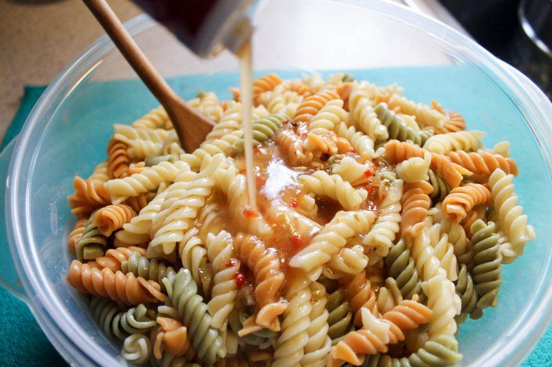 Poppy Seed pasta salad BBQ side dish recipe