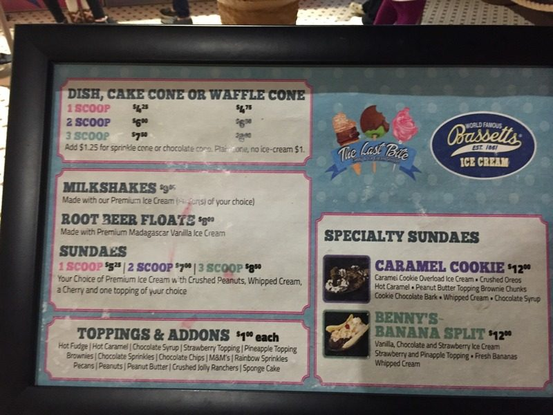 Kalahari Pocono Resort Ice Cream Prices
