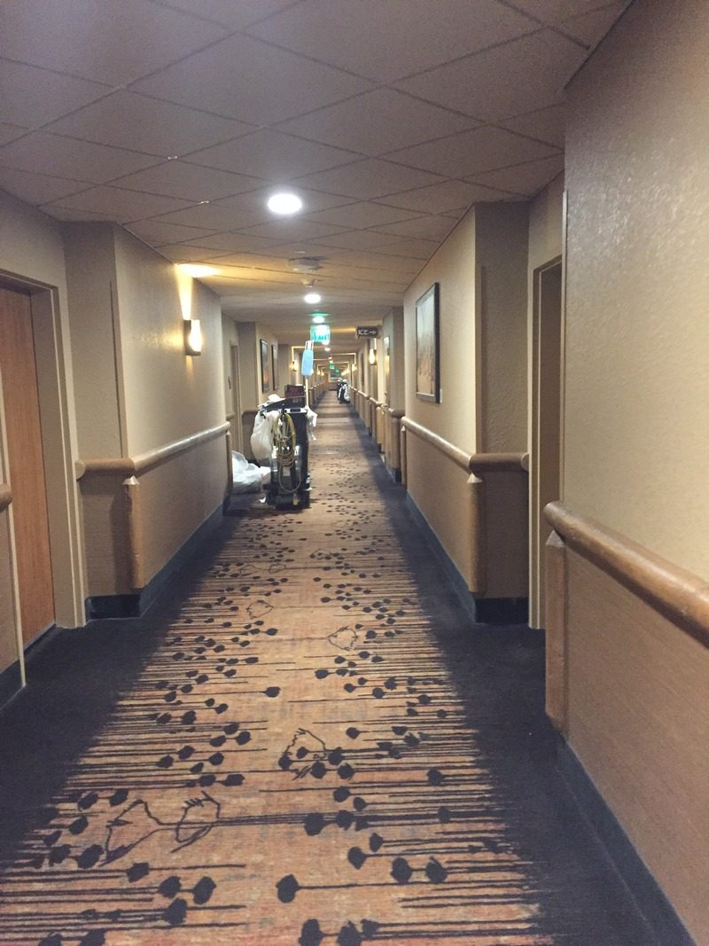 Kalahari Pocono Resort crazy long hallways