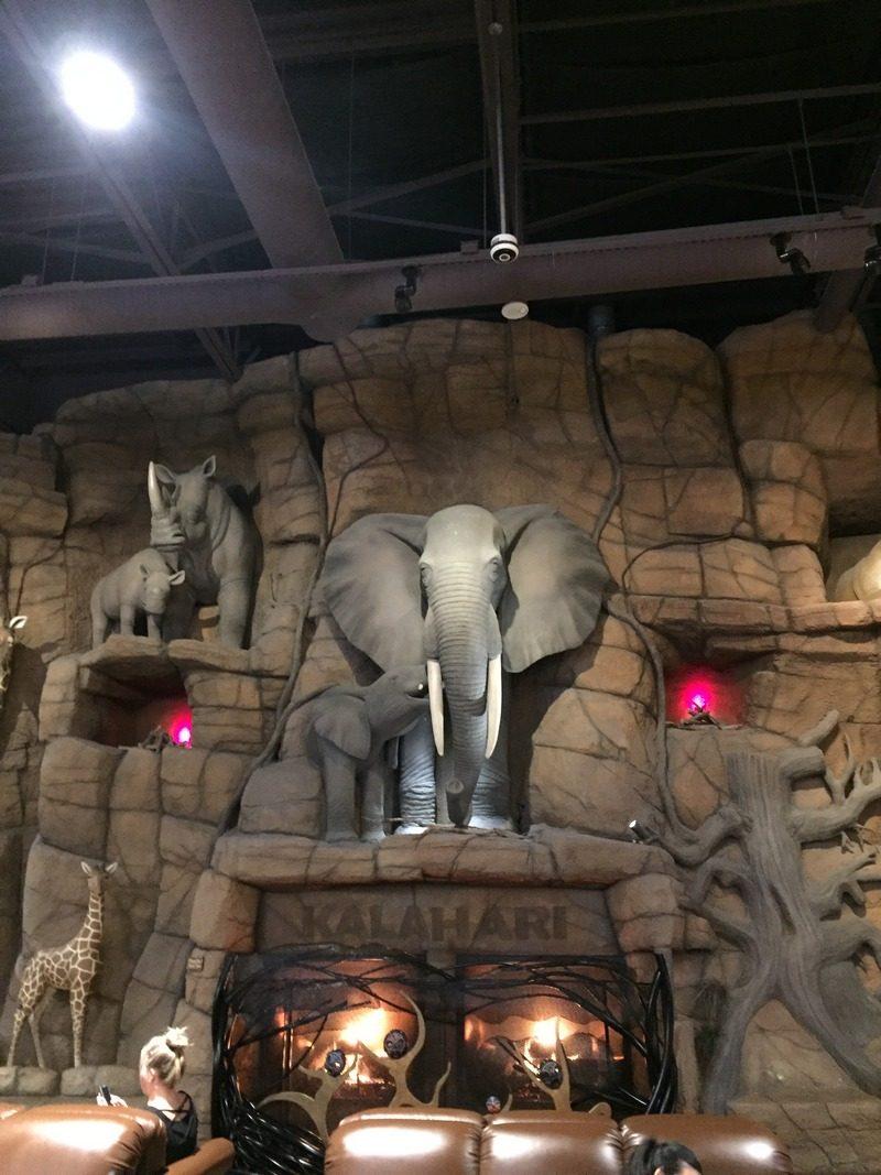 Kalahari Pocono Resort elephants lobby Is Kalahari Resort in the Poconos Worth the Trip?