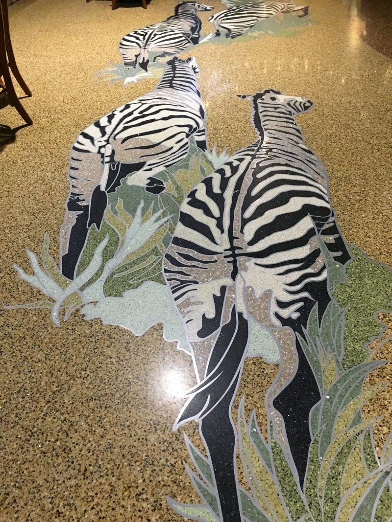 Kalahari Pocono Resort floor zebras