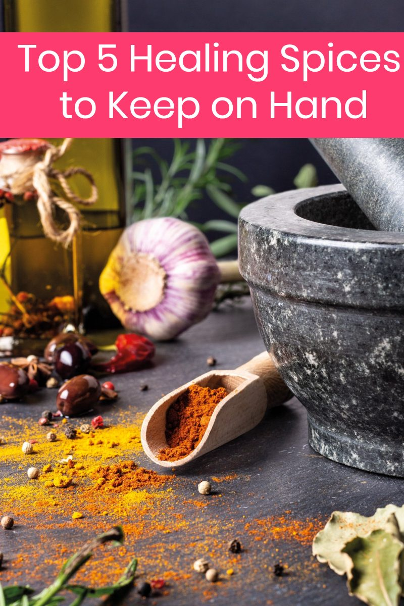 Want to cook with more healing spices? Check out these top 5 to keep on hand!