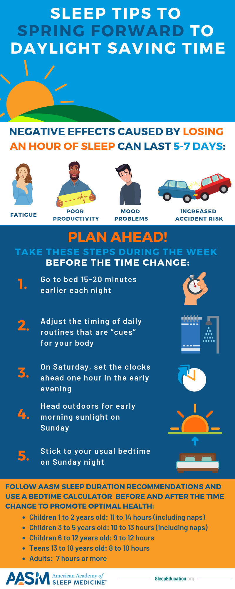 Get ready to spring forward to daylight saving time with these 5 sleep tips that will help you cope with the change!