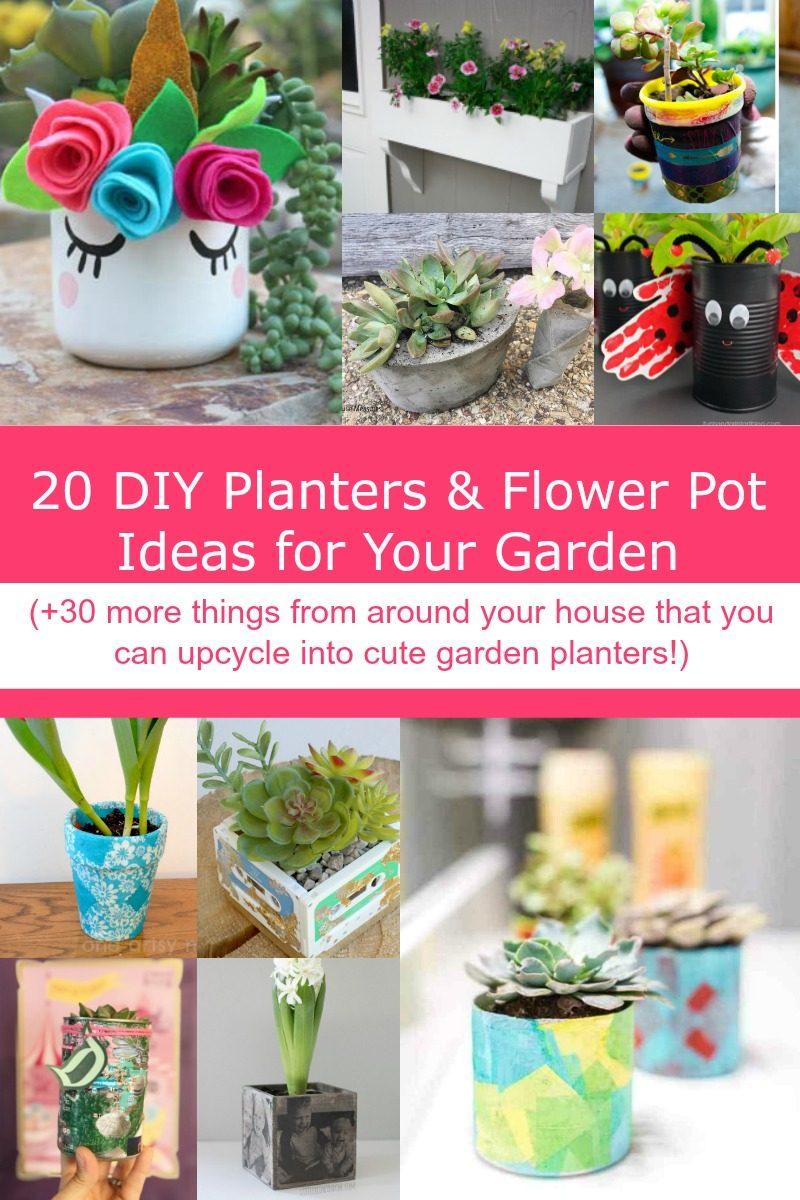 20 Diy Planters Flower Pot Ideas For