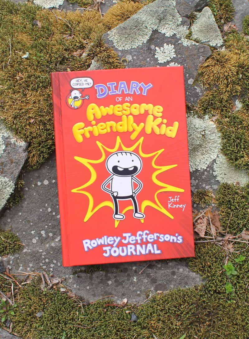 Have you heard? Rowley Jefferson, Greg\'s BFF in the Diary of a Wimpy Kid series, wrote his own diary!  Check out the review and tell me all about your own awesome friendly kid!