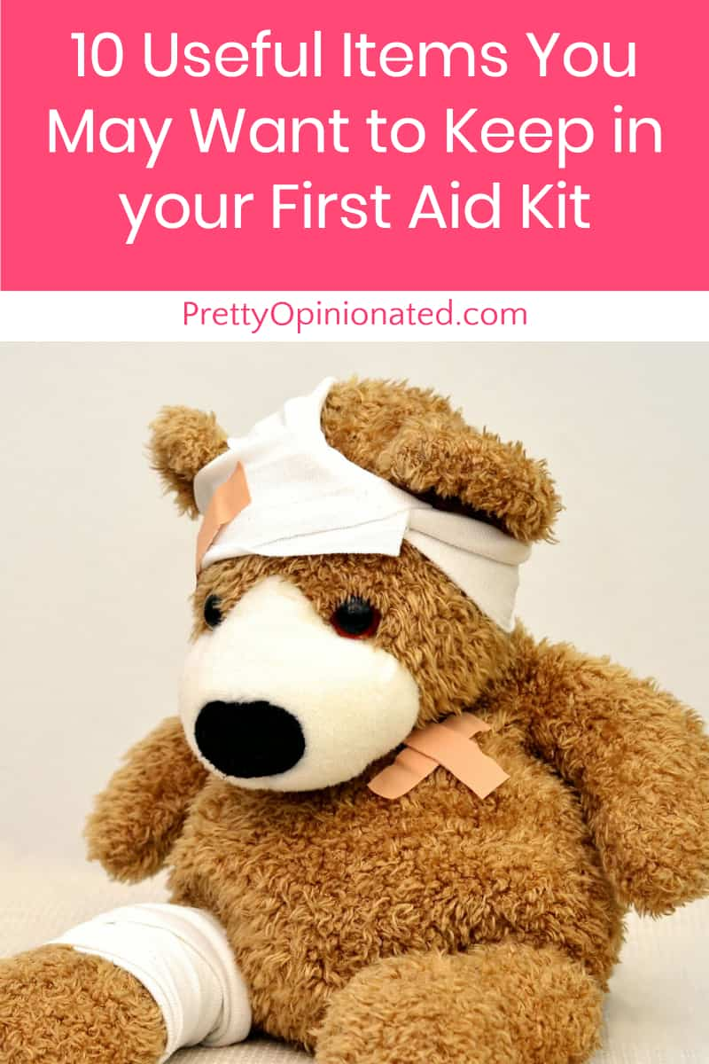 Every family should have a first aid kit including all the essentials you may need.  Here are ten things to include.