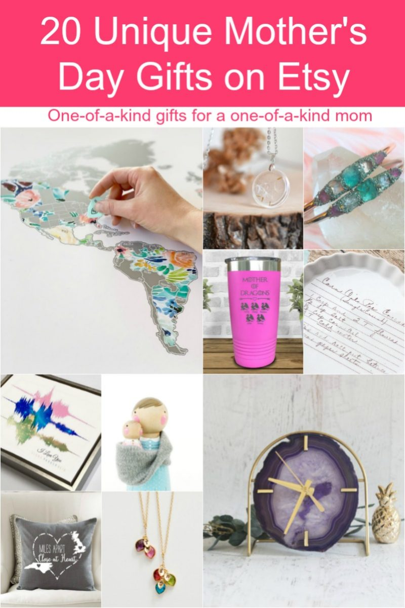 From unique gardening gifts for outdoorsy moms to pampering ideas for overworked mothers, there's something for everyone on this Etsy Mother's Day gift guide!