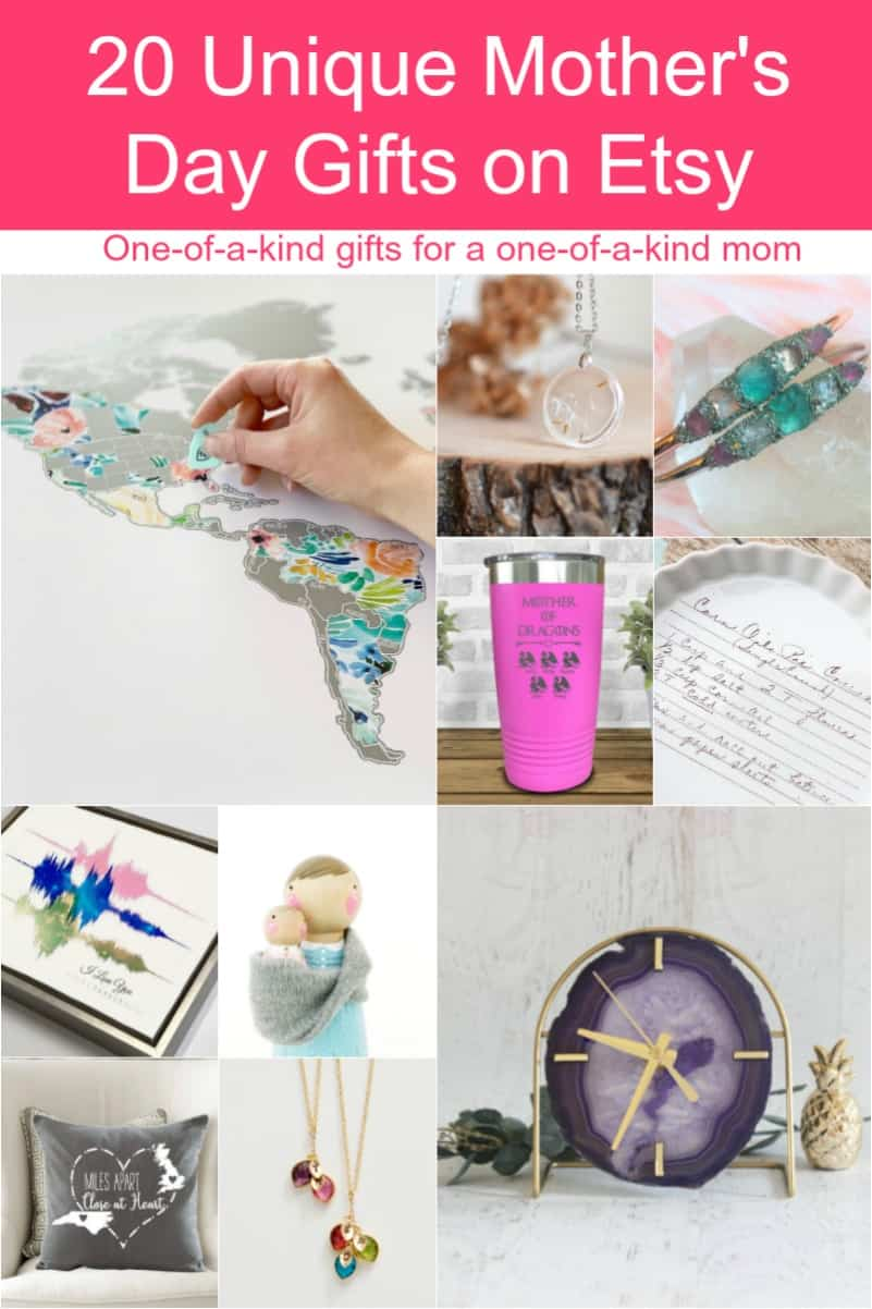 From unique gardening gifts for outdoorsy moms to pampering ideas for overworked mothers, there\'s something for everyone on this Etsy Mother\'s Day gift guide!
