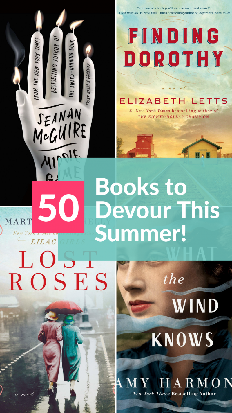 Need some ideas for your summer reading list? These fabulously grown-up books will keep you reading all season long! Check out 50 titles across every genre!