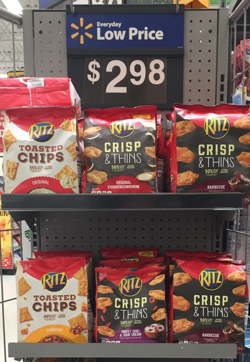 RITZ Crisp and Thins Crackers at Walmart 2 10 Money-Saving Road Trip Tips for a Cheap (Yet Fun!) Vacation