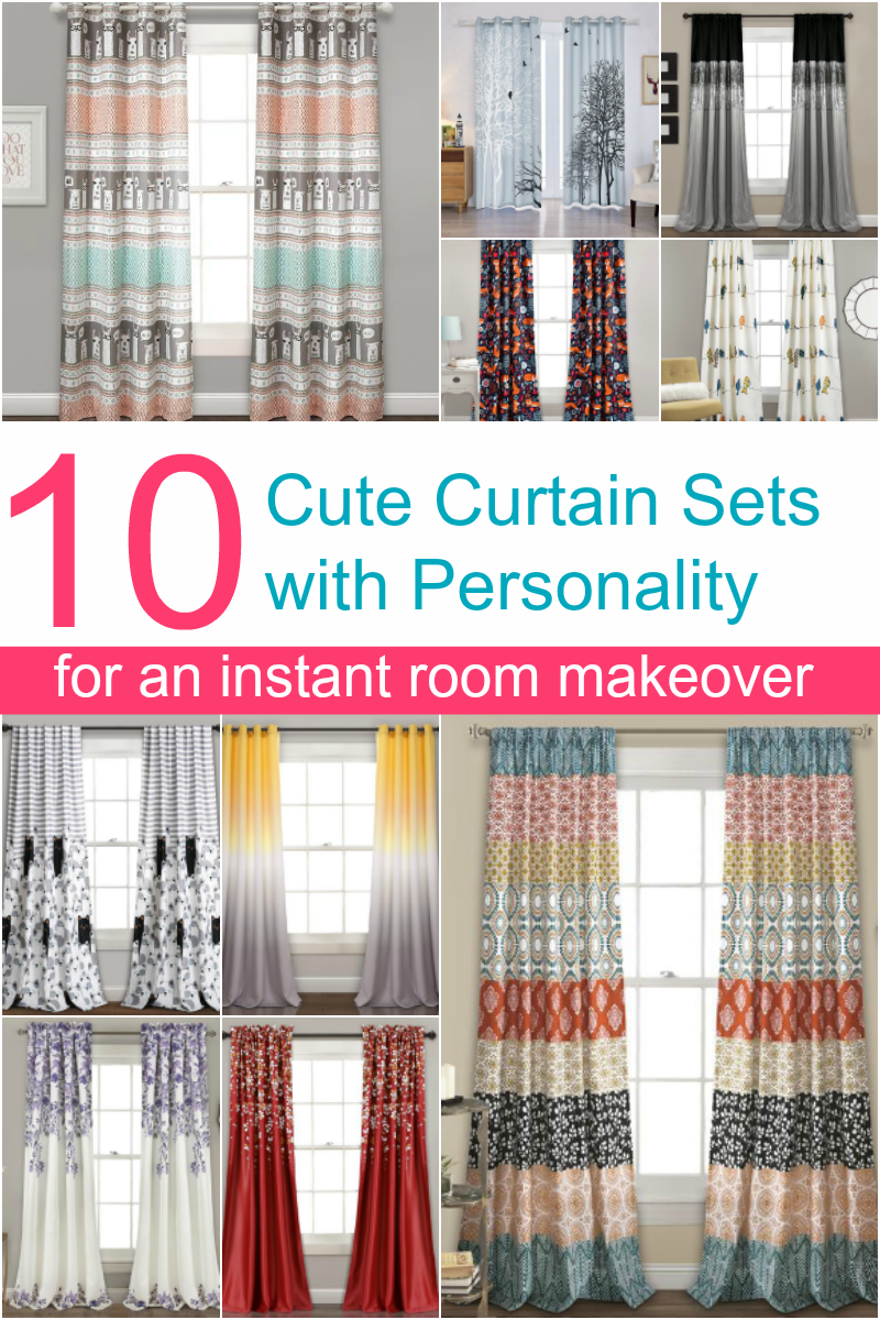 Want to go beyond the boring basic beige curtains? Bring your whole room to life with these 10 window treatments with personality that I'm absolutely loving right now!