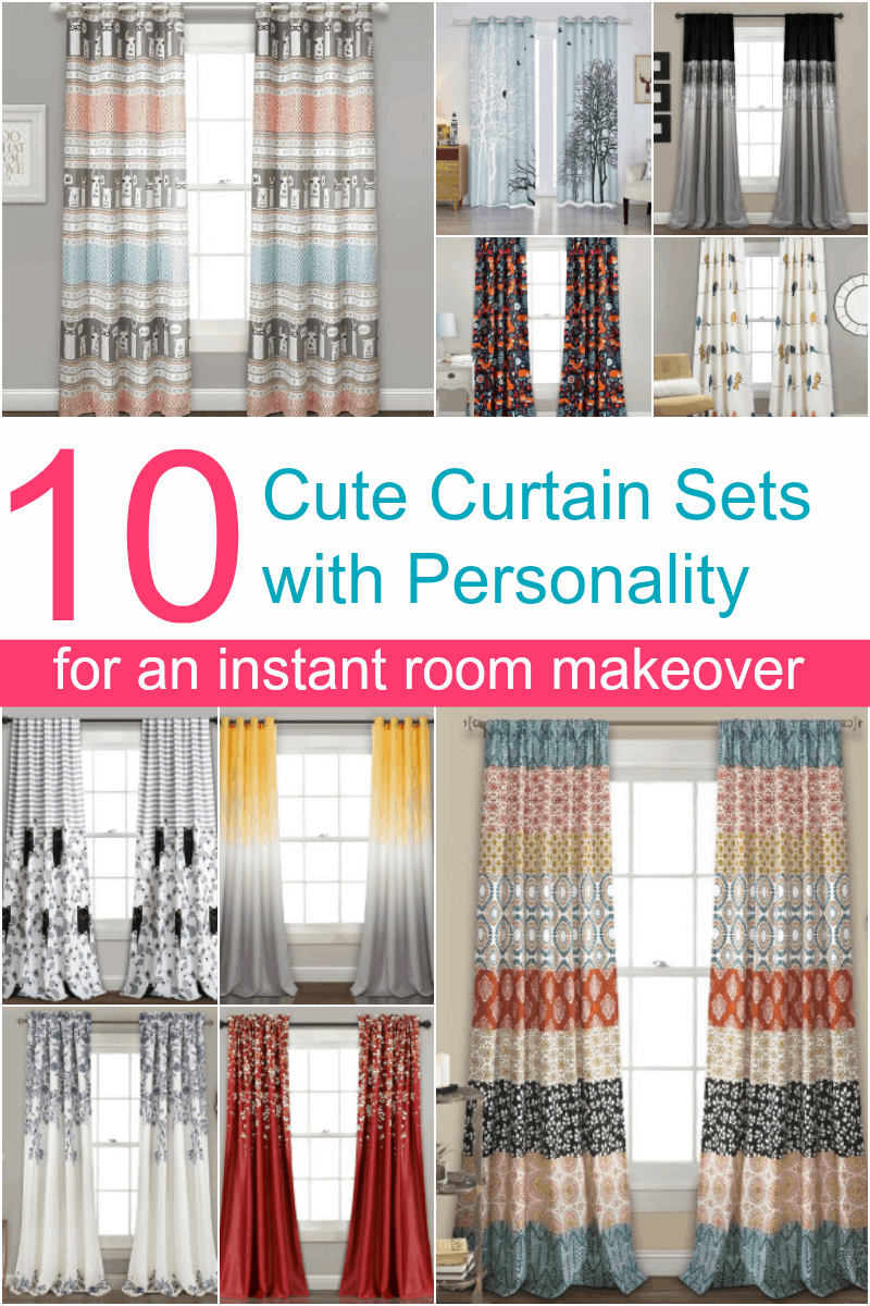 Want to go beyond the boring basic beige curtains? Bring your whole room to life with these 10 window treatments with personality that I\'m absolutely loving right now!