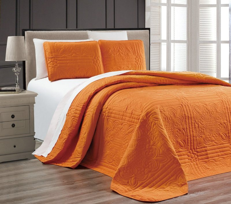 orange stella grande bedspread These Curtains with Personality Will Instantly Make Over Your Room!
