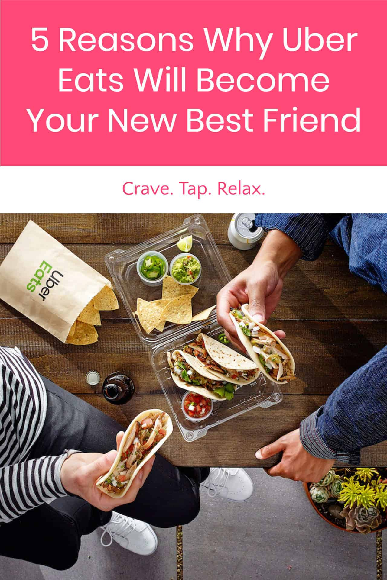 Not in the mood to cook tonight? Craving something special but don\'t have the ingredients? Sign up for UberEats and Crave.Tap.Relax! Find out how!