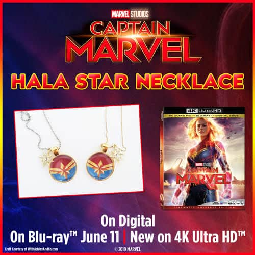 Hala Star Necklace Captain Marvel is Now Available on Blu-Ray/DVD (plus Grab Free Activity Sheets!)