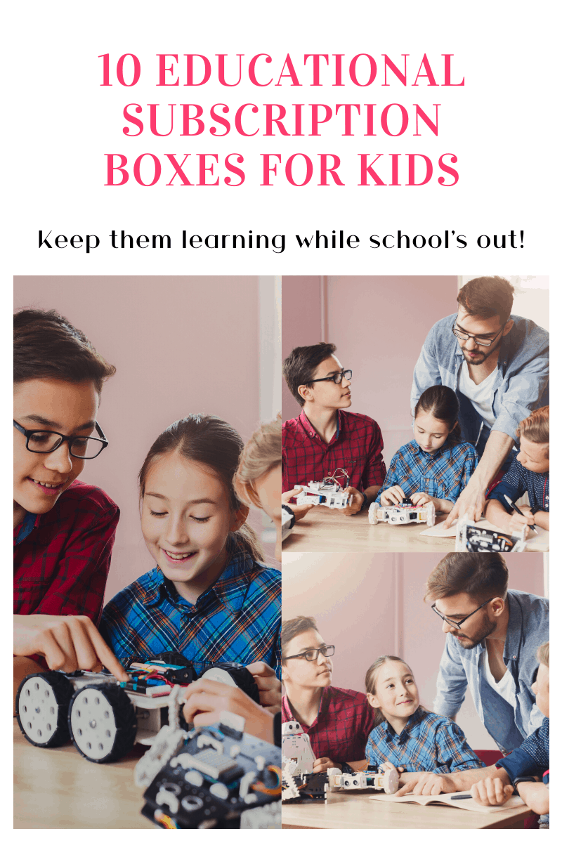 Want to keep kids learning without resorting to boring worksheets? Check out these 10 educational subscription boxes that teach kids new skills in a fun way!