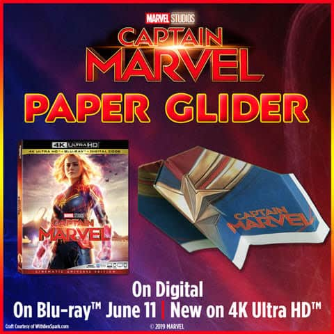 glider Captain Marvel is Now Available on Blu-Ray/DVD (plus Grab Free Activity Sheets!)
