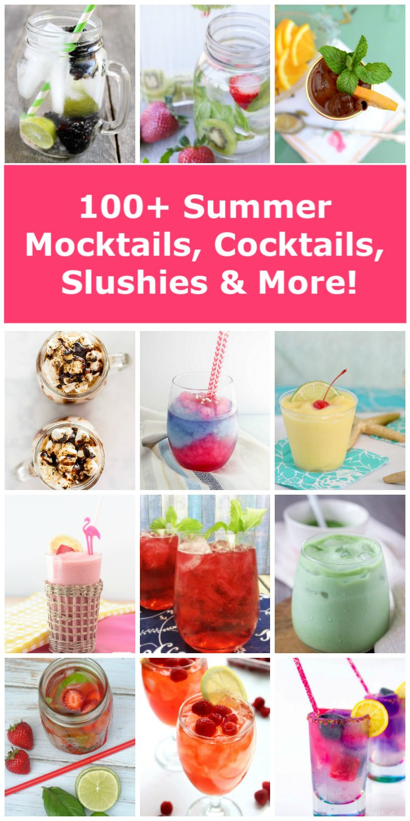 Looking for some outstandingly refreshing and delicious summer drink recipes? I've got you covered! Read on for the ultimate list of summer drinks, including cocktails, mocktails, frozen delights, totally kid-friendly recipes and more!