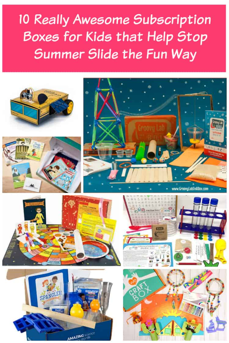Want to prevent summer slide without resorting to boring workbooks and summer school programs? Check out these 10 subscription boxes that teach kids new skills in a fun way!