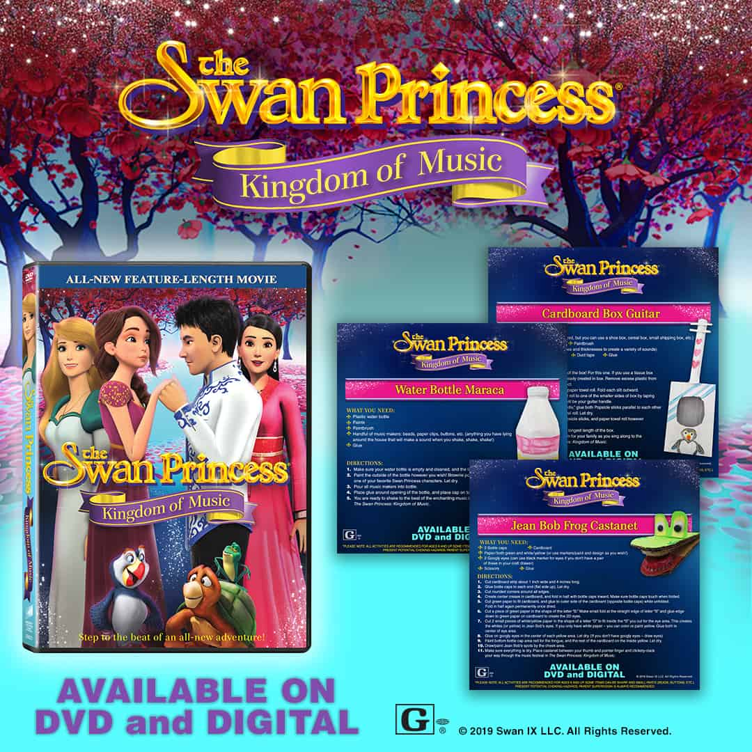 Looking for a fun activity that you can do indoors with your kids on these rainy days? Check out these adorable Swan Princess DIY musical instrument ideas!