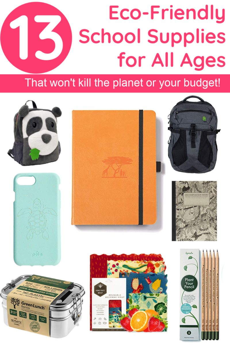 Send your kids back to school in style without wreaking havoc on the planet thanks to these fun, funky & totally functional eco-friendly school supplies for all ages! Check them out!