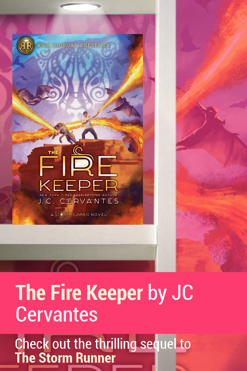 The Fire Keeper is a brilliantly plotted action-packed sequel to Cervantes' masterful middle-grade book, The Storm Runner. Check it out!