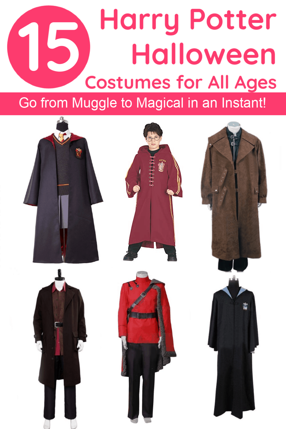 Go from Muggle to magical in an instant with these brilliant Harry Potter Halloween costumes, including some super high-quality cosplay costumes that will last a lifetime!