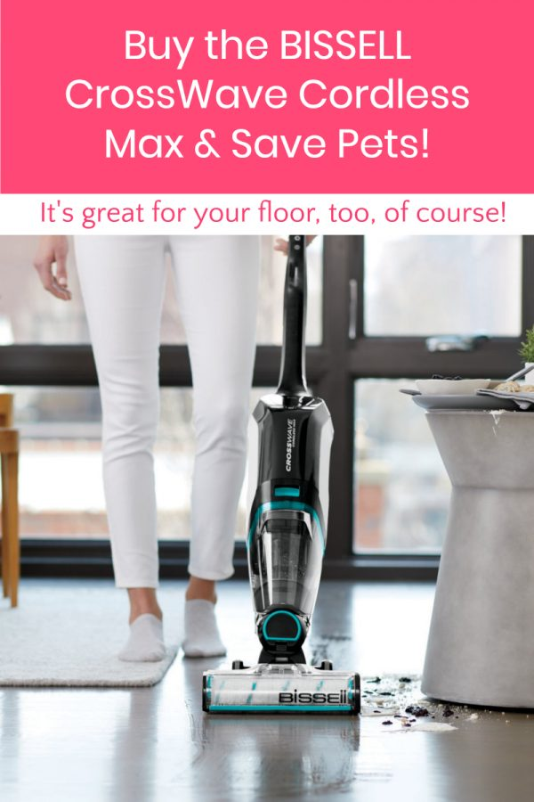 The BISSELL CrossWave Cordless Max doesn't just help you clean up after your own pets, it also helps pets in need! Read on to learn how!