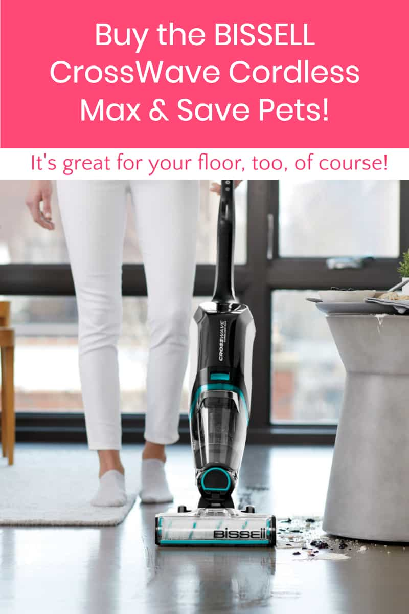 If you're looking for a vacuum that can help you tackle your own pet's messiest messes while also helping pets in need, you're going to adore the BISSELL CrossWave Cordless Max!