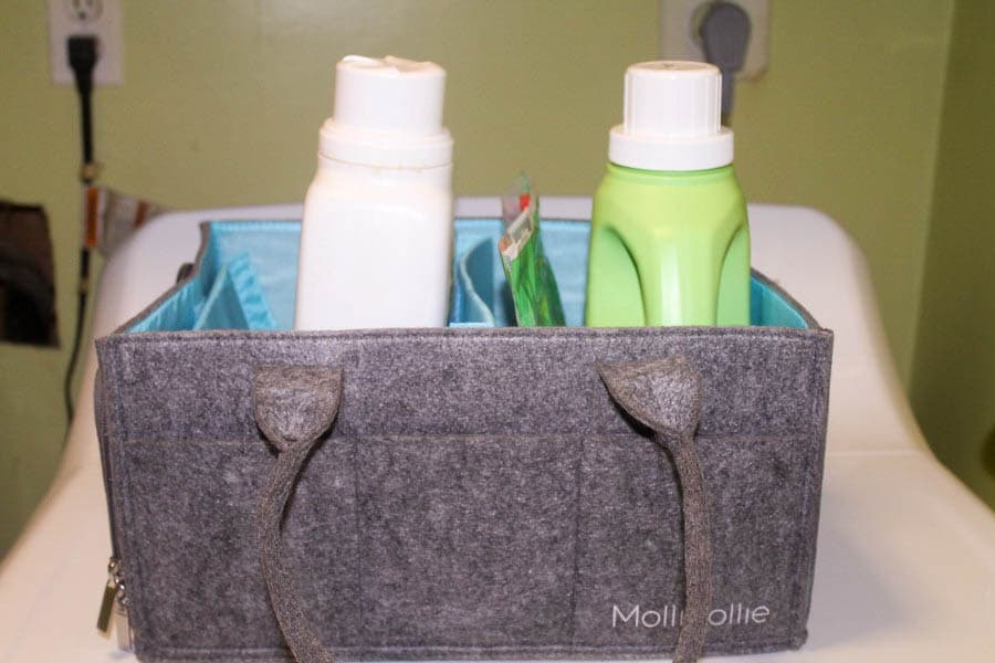 If you're looking for a super stylish and totally durable storage solution for everything from diapers to art supplies, allow me to introduce you to the Mollieollie Mimmo Diaper Caddy.