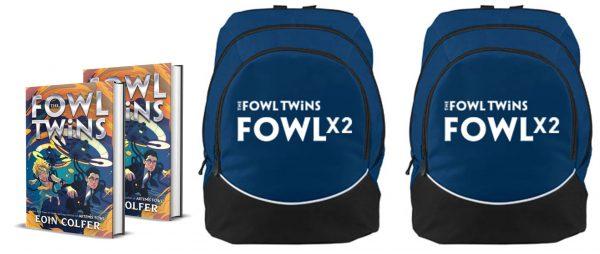 "TheFowlTwins Backpack Return to the Artemis Fowl Universe with ""The Fowl Twins"" by Eoin Colfer"