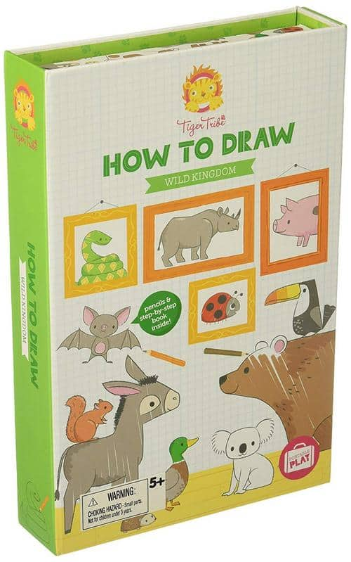 Tiger Tribe How to Draw Wild Kingdom Arts and Crafts Kit 2019 Holiday Gift Guide for All Ages