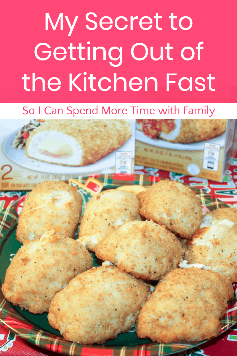 Want to spend less time in the kitchen & more time with family this holiday season? Find out why Barber Foods Stuffed Chicken is my best-kept secret!
