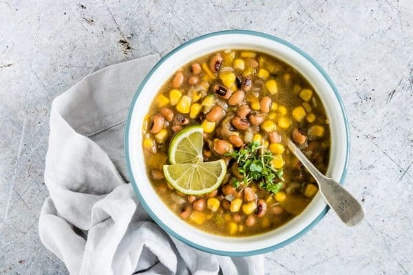 Spicy Slow Cooker Bean Soup