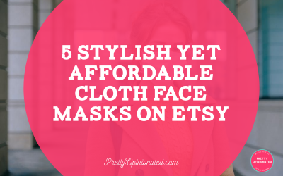 5 Stylish Yet Affordable Cloth Face Masks That You Can Buy on Etsy