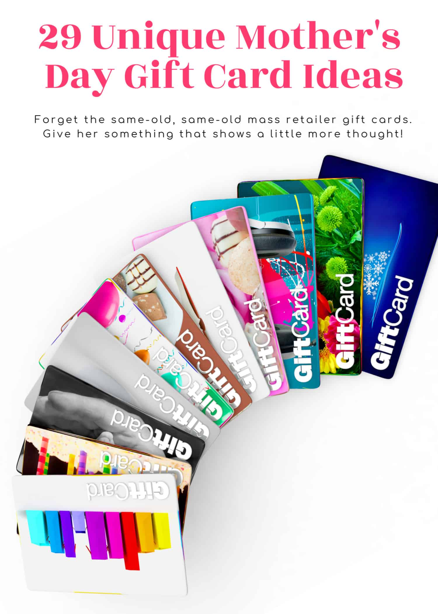 Mothers day gift card ideas
