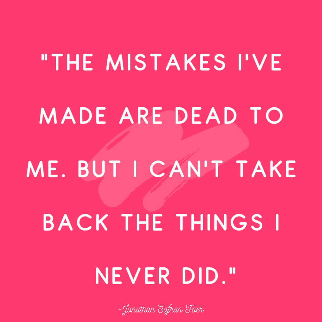 """""""The mistakes I've made are dead to me. But I can't take back the things I never did."""""""