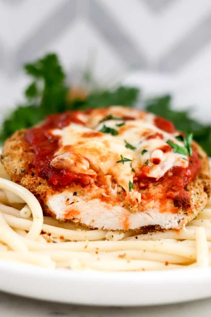 Air Fryer Chicken Parmesan 8 683x1024 1 25 Air Fryer Chicken Recipes to Add to Your Monthly Meal Plan