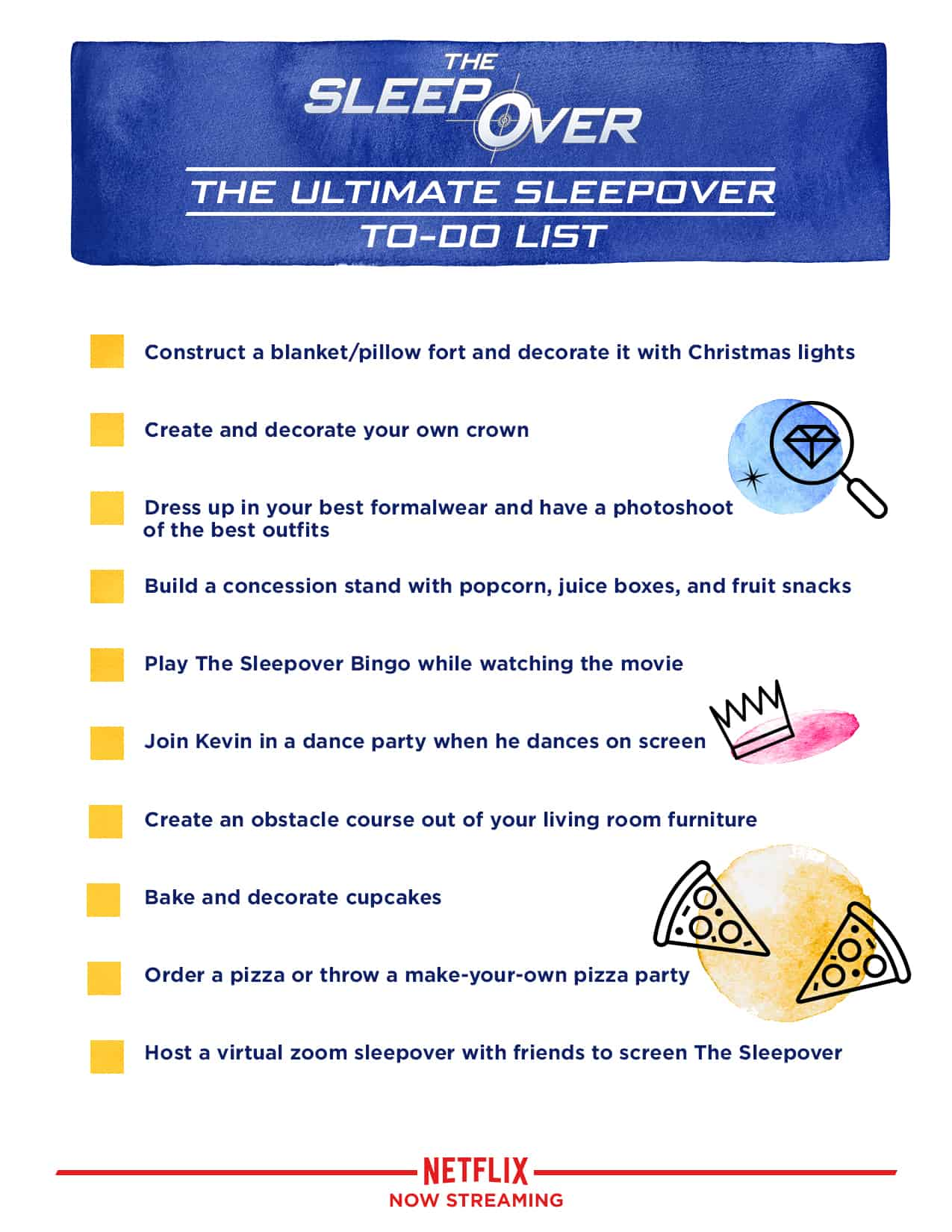 The Ultimate Sleepover Checklist