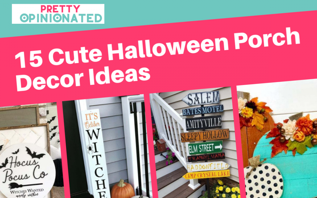 15 Super Cute Outdoor Halloween Porch Decorations