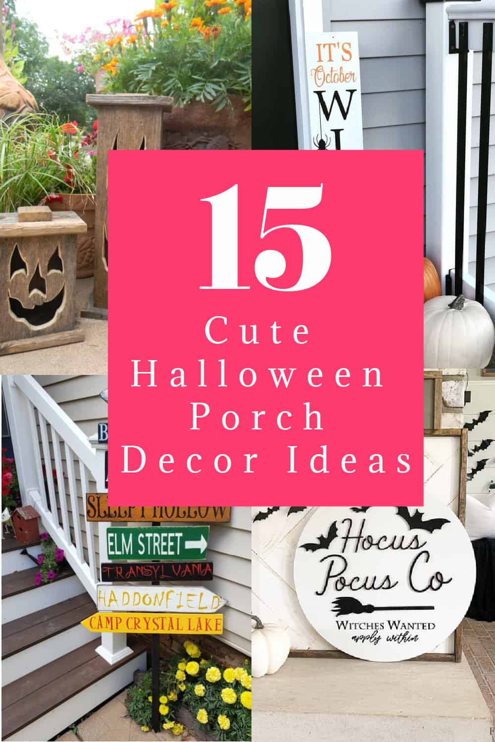 These cute Halloween porch decorations help make the year extra special, especially for kids who can't trick or treat. Check them out!