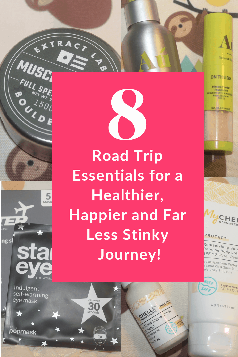Before you hit the highway for your next road trip, make sure you pack these essentials! They'll keep you looking and feeling great (and a whole lot less stinky!). Check them out!
