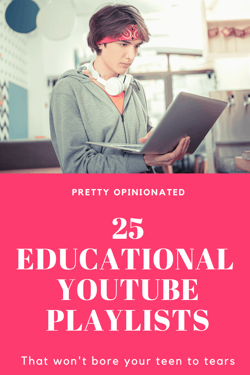 If your high school kids are doing distance learning this fall, these YouTube playlists and videos will come in super handy. They're far more engaging than a the platform most schools use. Take a look!