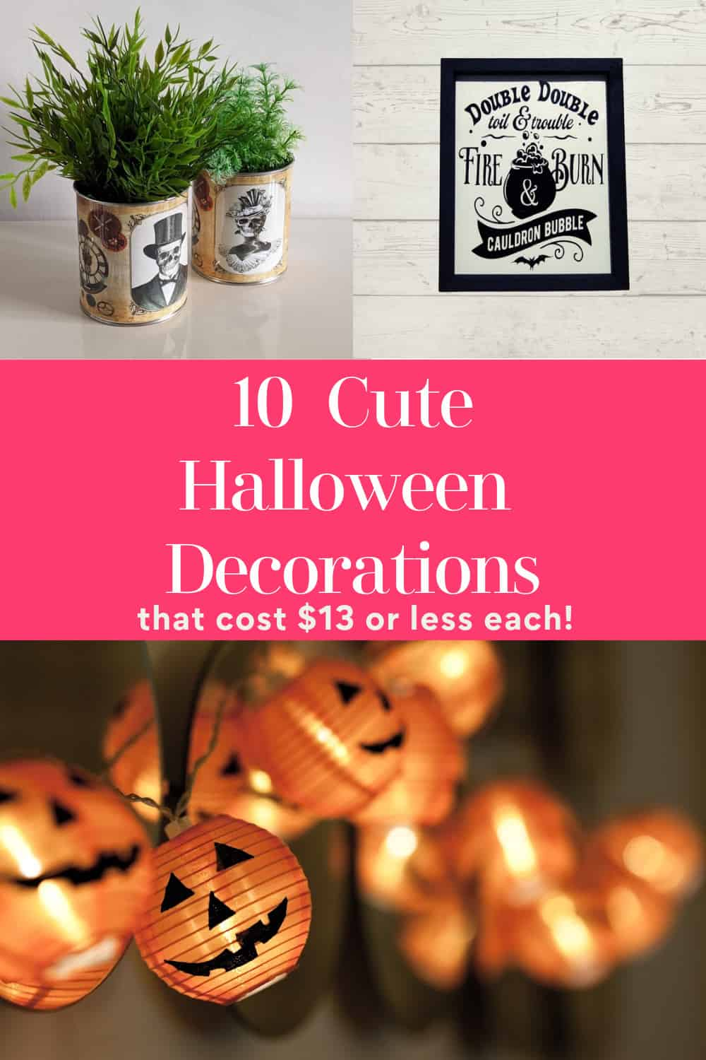 """Get into the spooky spirit without busting your budget with these """"spooktacular"""" Halloween decorations that cost $13 or less! Check them out!"""